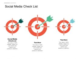 Social Media Check List Ppt Powerpoint Presentation Show Designs Download Cpb
