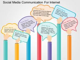 social_media_communication_for_internet_flat_powerpoint_design_Slide01