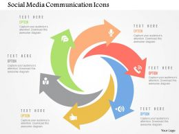 Social Media Communication Icons Flat Powerpoint Design