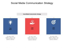 Social Media Communication Strategy Ppt Powerpoint Presentation Aids Cpb