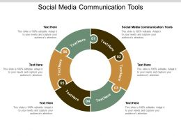 Social Media Communication Tools Ppt Powerpoint Presentation Show Graphics Cpb