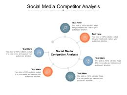 Social Media Competitor Analysis Ppt Powerpoint Presentation Show Cpb