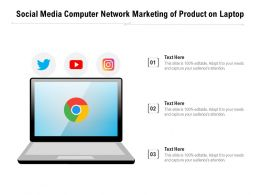 Social Media Computer Network Marketing Of Product On Laptop