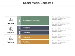 Social Media Concerns Ppt Powerpoint Presentation Summary Inspiration Cpb