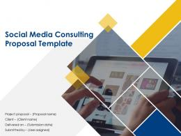 Social Media Consulting Proposal Template Powerpoint Presentation Slides