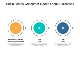 Social Media Consumer Goods Local Businesses Ppt Powerpoint Presentation Cpb