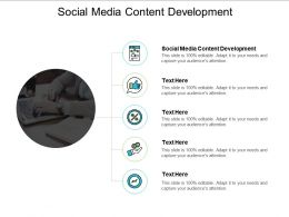 Social Media Content Development Ppt Powerpoint Presentation Infographic Template Templates Cpb
