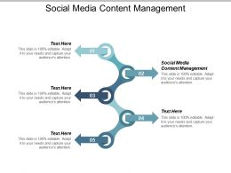 Social Media Content Management Ppt Powerpoint Presentation Slides Professional Cpb