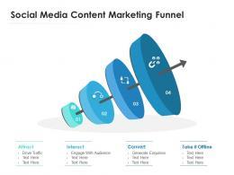 Social Media Content Marketing Funnel