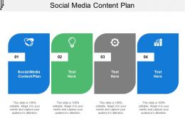 Social Media Content Plan Ppt Powerpoint Presentation Styles Visual Aids Cpb