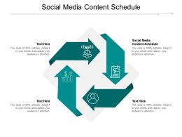 Social Media Content Schedule Ppt Powerpoint Presentation Styles Display Cpb