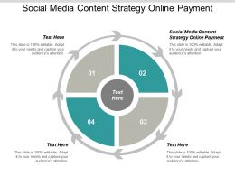 Social Media Content Strategy Online Payment Ppt Powerpoint Presentation Show Influencers Cpb
