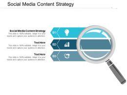 Social Media Content Strategy Ppt Powerpoint Presentation Portfolio Grid Cpb