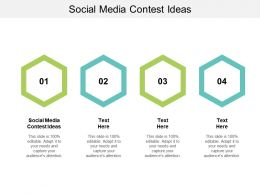 Social Media Contest Ideas Ppt Powerpoint Presentation Outline Slide Portrait Cpb