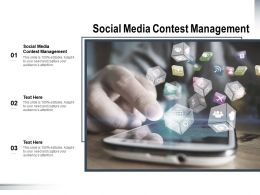 Social Media Contest Management Ppt Powerpoint Presentation Inspiration Vector Cpb