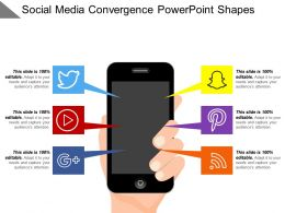 Social Media Convergence Powerpoint Shapes