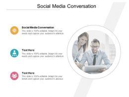 Social Media Conversation Ppt Powerpoint Presentation Inspiration Graphics Tutorials Cpb