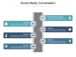 Social Media Conversation Ppt Powerpoint Presentation Summary Microsoft Cpb