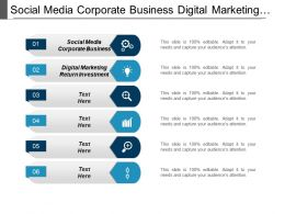 Social Media Corporate Business Digital Marketing Return Investment Cpb