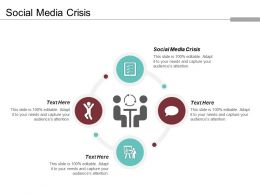 Social Media Crisis Ppt Powerpoint Presentation Gallery Graphics Design Cpb