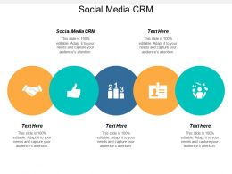 Social Media CRM Ppt Powerpoint Presentation File Infographic Template Cpb