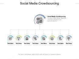 Social Media Crowdsourcing Ppt Powerpoint Presentation File Background Designs Cpb