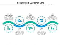 Social Media Customer Care Ppt Powerpoint Presentation Inspiration Visuals Cpb