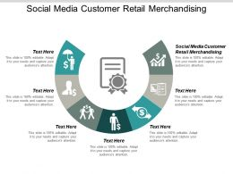 Social Media Customer Retail Merchandising Ppt Powerpoint Presentation Pictures Graphics Design Cpb