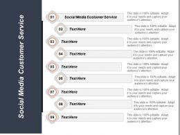 Social Media Customer Service Ppt Powerpoint Presentation Background Cpb