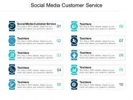 Social Media Customer Service Ppt Powerpoint Presentation Infographics Themes Cpb