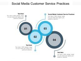 Social Media Customer Service Practices Ppt Powerpoint Presentation Ideas Good Cpb
