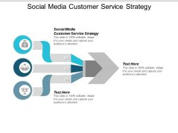 Social Media Customer Service Strategy Ppt Powerpoint Presentation Infographic Template Display Cpb