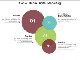 Social Media Digital Marketing Ppt Powerpoint Presentation Ideas Microsoft Cpb