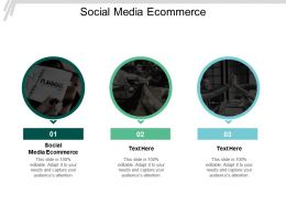 Social Media Ecommerce Ppt Powerpoint Presentation Styles Guide Cpb