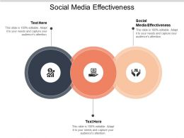 Social Media Effectiveness Ppt Powerpoint Presentation Layouts Graphics Template Cpb