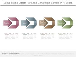Social Media Efforts For Lead Generation Sample Ppt Slides
