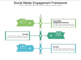 Social Media Engagement Framework Ppt Powerpoint Presentation Infographic Template Cpb