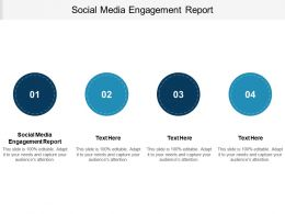 Social Media Engagement Report Ppt Powerpoint Presentation Infographic Template Deck Cpb