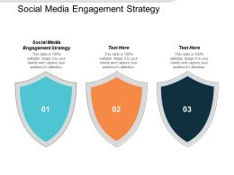 Social Media Engagement Strategy Ppt Powerpoint Presentation Samples Cpb