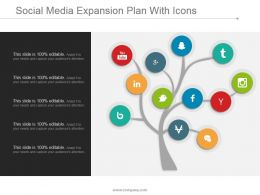 Social Media Expansion Plan With Icons Presentation Graphics