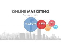Social Media Focused Online Marketing PowerPoint Presentation With Slides