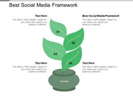 Social Media Framework Ppt Powerpoint Presentation Infographic Template Show Cpb