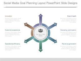 Social Media Goal Planning Layout Powerpoint Slide Designs