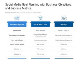 Social Media Goal Planning With Business Objectives And Success Metrics