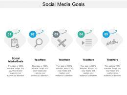 Social Media Goals Ppt Powerpoint Presentation Themes Cpb