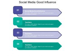 Social Media Good Influence Ppt Powerpoint Presentation Summary Layouts Cpb
