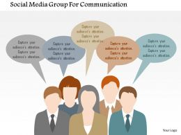 Social Media Group For Communication Flat Powerpoint Design