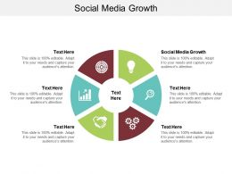 Social Media Growth Ppt Powerpoint Presentation Pictures Images Cpb