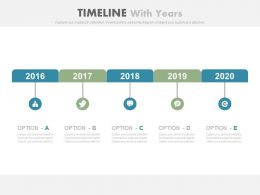 Social Media Growth Timeline With Years Powerpoint Slides