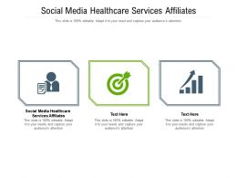 Social Media Healthcare Services Affiliates Ppt Powerpoint Presentation Gallery Cpb